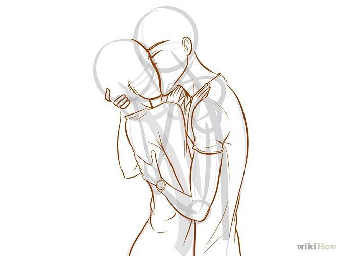 Kissing tutorial. I feel like this picture the boy is forcing the girl to kiss him.