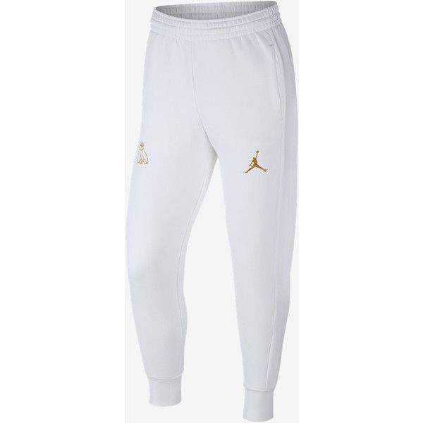 Jordan OVO Fleece Men's Sweatpants. Nike.com UK ($110) ❤ liked on Polyvore featuring men's fashion, men's clothing, men's activewear, mens activewear, men's apparel, nike mens clothing, mens clothing and nike mens apparel
