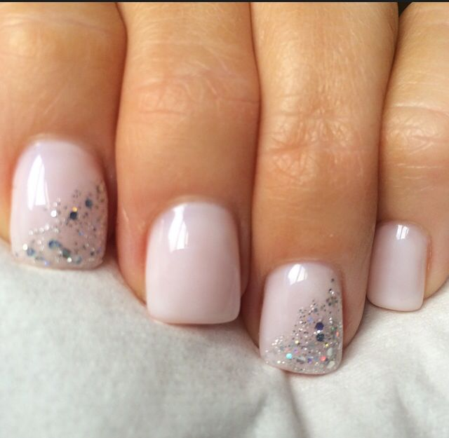 Opi Funny Bunny Gel with silver sparkle