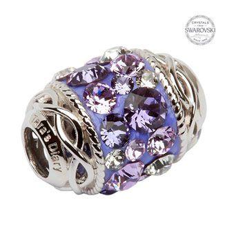 Celtic Knot Bead Embellished With Swarovski Crystals