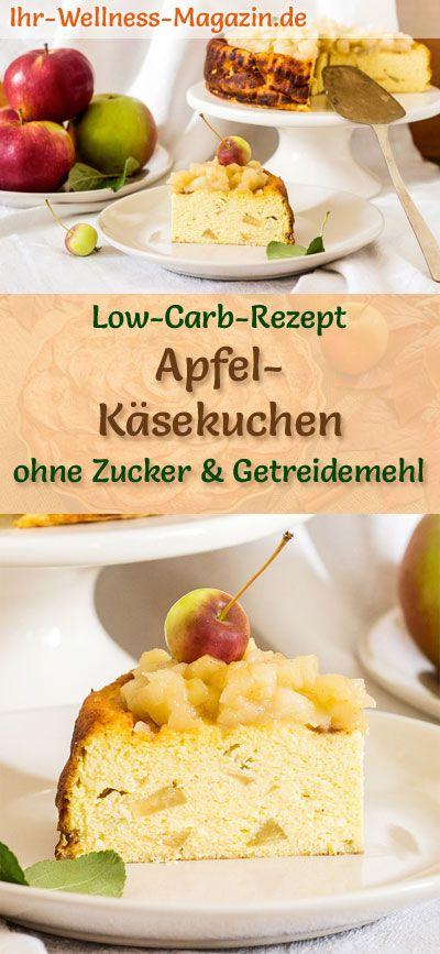 Low Carb Apfel Kasekuchen Ohne Boden Quarkkuchen Rezept Ohne