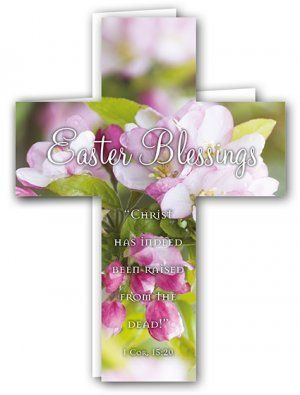 Easter Blessings Cross Card Pack of 4 (EDSX002XA) | Free Delivery when you spend £10 @ Eden.co.uk
