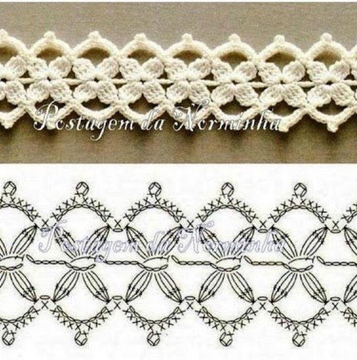 Luty Artes Crochet: Barrados em crochê + Gráficos .