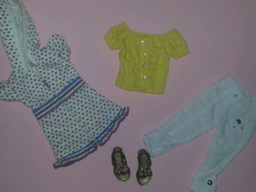 "20"" Hasbro Lorifina BJD Summer Fashion Lot White Pant Hoodie Yellow Top Sandals | eBay"