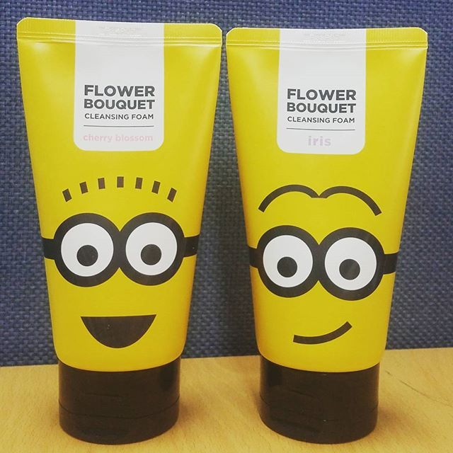 Missha x Minions Flower bouquet creansing foam cherry blossom/iris #missha #minions #missha_minions #bbcosmetic_official