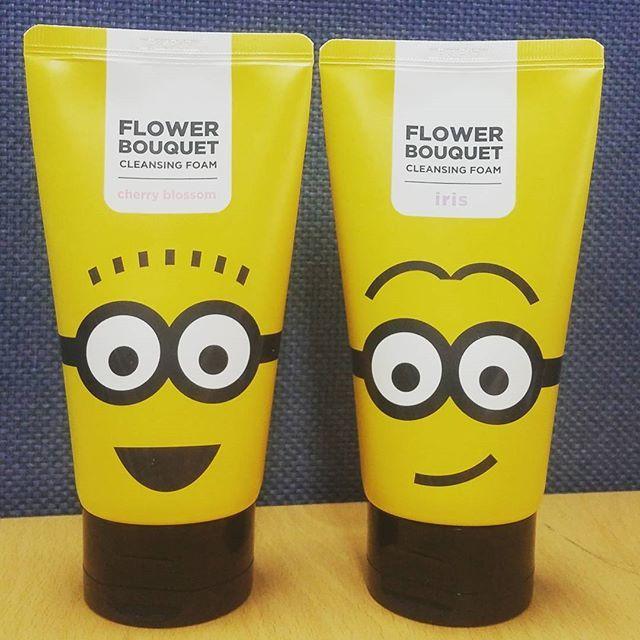 Missha x Minions Flower bouquet creansing foam cherry blossom/iris #missha #minions #missha_minions #bbcosmetic_official