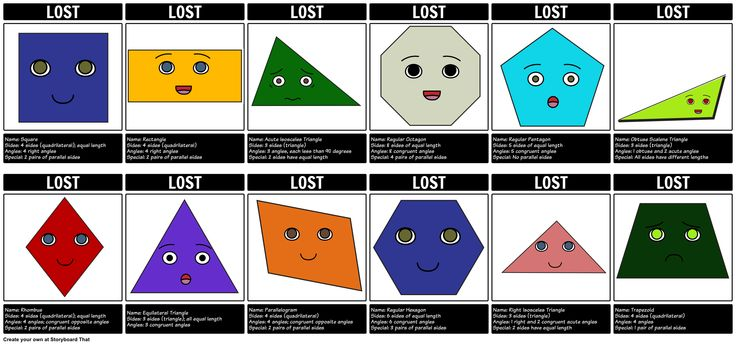 Introduction to Geometry - Lost Flyers: Create this fun storyboard for Introduction to Geometry!