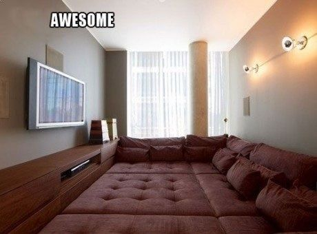 a dream, amazing, awesome, bed, couch: Movie Room, Ideas, Floor, Tv Room, Dream House, Future House, Bedroom, Rooms, Dreamhouse