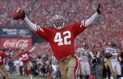 San Francisco 49ers Ronnie Lott.........GREATEST SAFETY IN FOOTBALL!