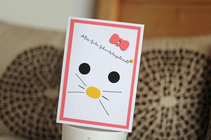 hello kitty kinderzimmer gestalten stampin up flamingorot hello kitty geburtstagskarte kinder
