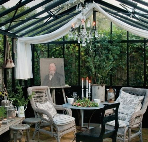 Inside dream greenhouse. This Ivy House.