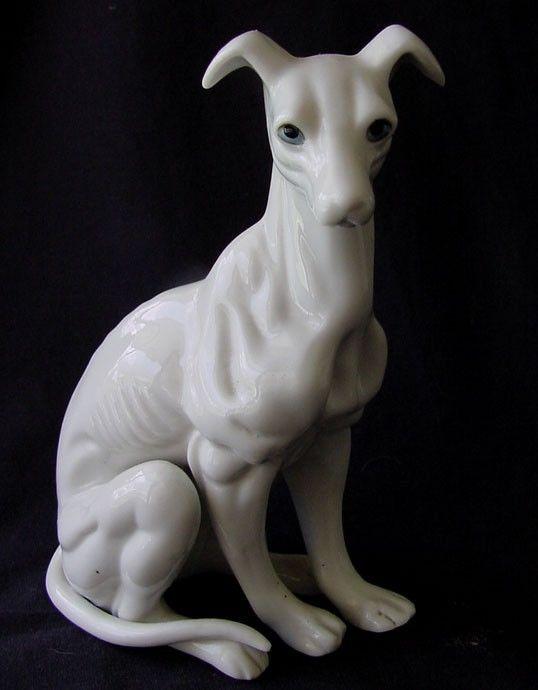 Porcelain Greyhound Dog Figurine Excellent Definition