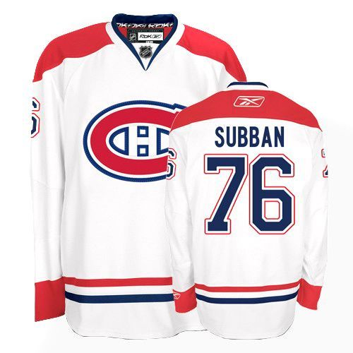 P.K Subban Jersey-Buy 100% official Reebok P.K Subban Youth Premier White Jersey NHL Montreal Canadiens #76 Away Free Shipping.