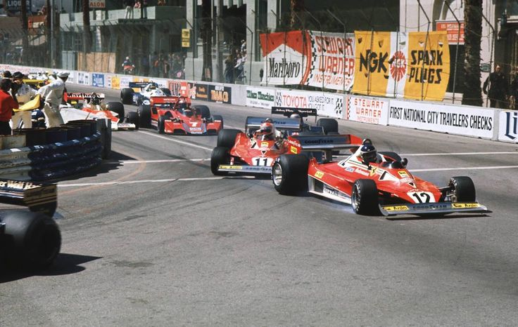 Carlos Reutemann & Niki Lauda (Ferrari) Grand Prix des USA - Long Beach - 1977 - Formula 1 HIGH RES photos (Old and New) Facebook.