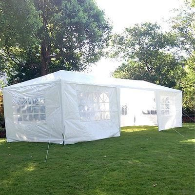 white 10x30 party tent 7 wall outdoor wedding gazebo canopy