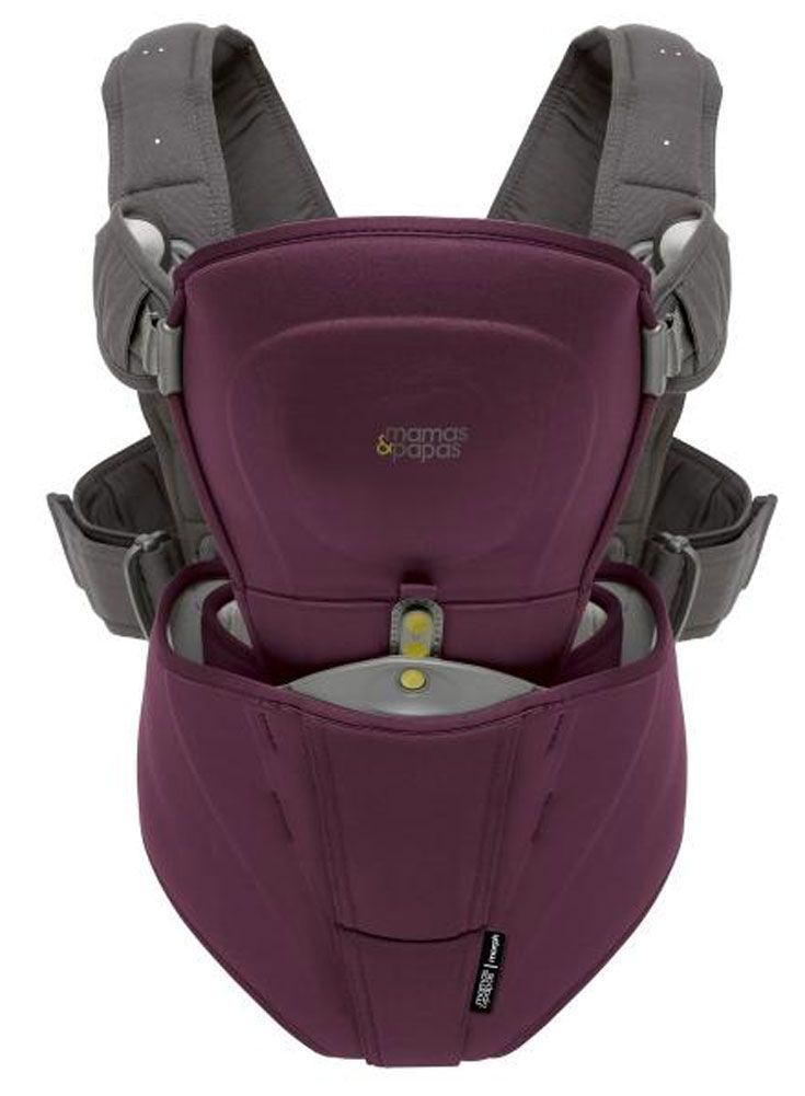 Morph Baby Carrier £80, Mamas & Papas  This carrier's unique selling point is that you and your partner can each wear a sized harness and swap the baby-carrying pod between you, making carrying your baby easy and effortless.