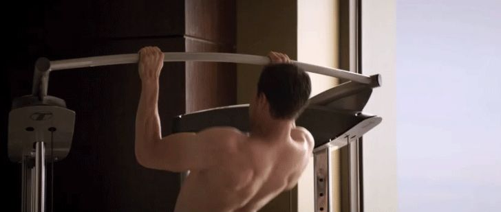 12 Steamy Fifty Shades Darker GIFs That'll Leave You Hot and Bothered This Voyeuristic Workout Scene Honestly, same.