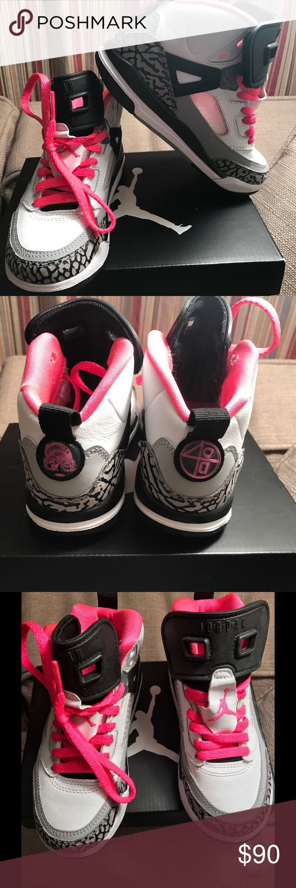 Jordan Spizike PERFECT CONDITION worn once             Jordan Spizike with pink detail and pink laces Jordan Shoes Sneakers