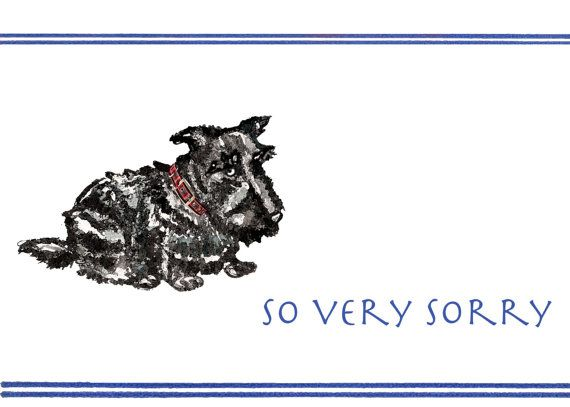 So Very Sorry by dorothybarkerdesign on Etsy