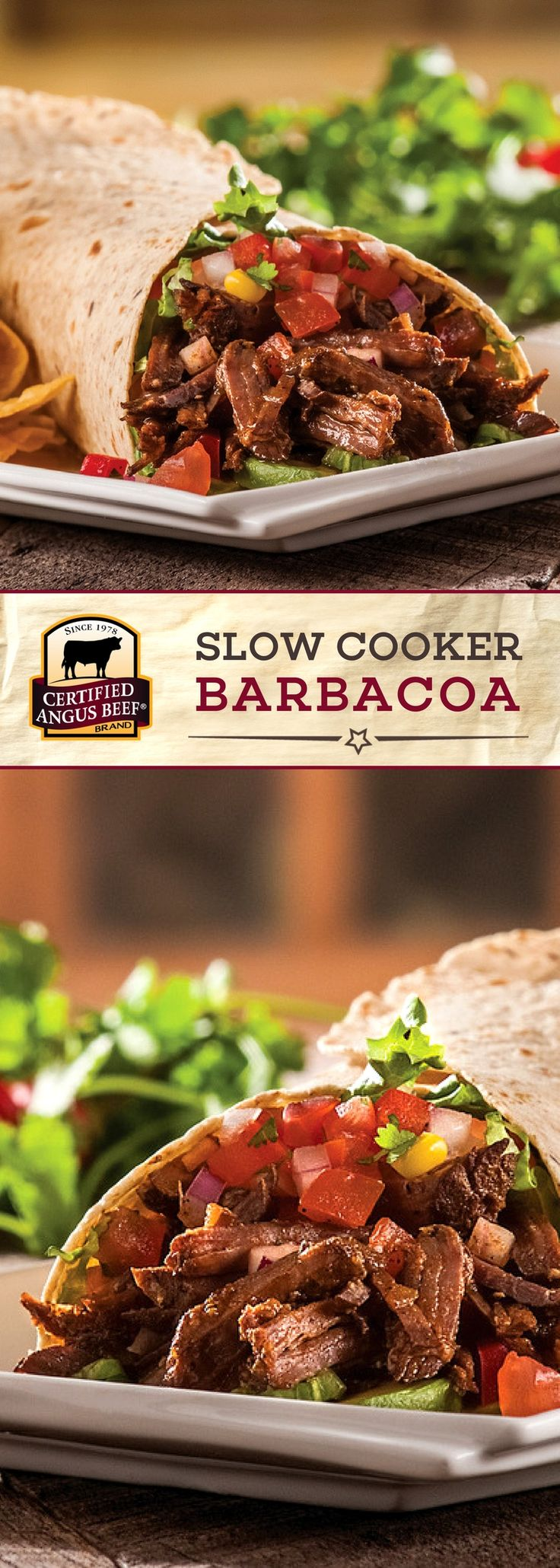 Certified Angus Beef®️ brand Slow Cooker Barbacoa is an EASY recipe that you can make in your SLOW cooker with delicious shoulder roast! Cinnamon, allspice, cumin, oregano and coffee make this a FRAGRANT and deeply flavorful beef recipe!   #bestangusbeef #certifiedangusbeef #beefrecipe #easyrecipes #tacotuesday