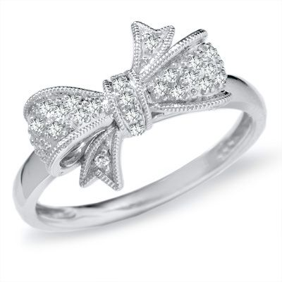 Sweet.Wedding Ring, Style, Bows Rings, Jewelry, Bow Rings, Diamonds Bows, White Gold, Engagement Rings, Promise Rings