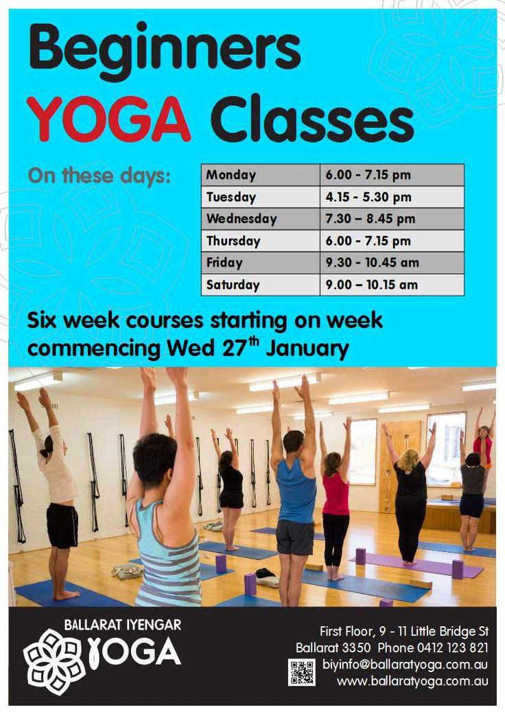 Six week courses commencing end of January 2016. #ballaratyoga