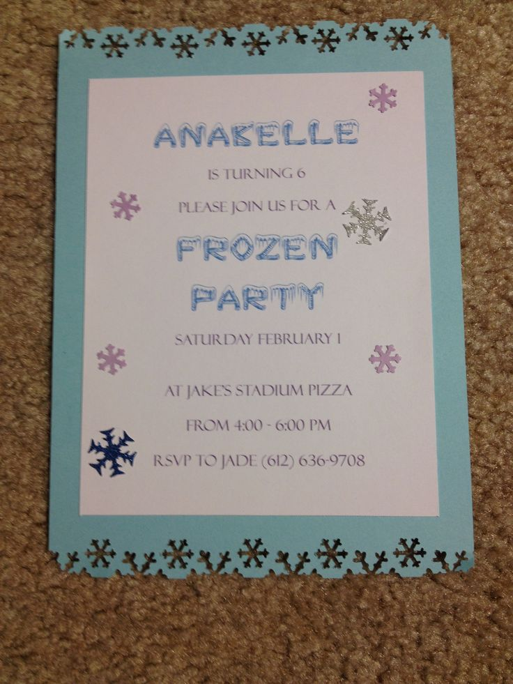 homemade frozen party invitations