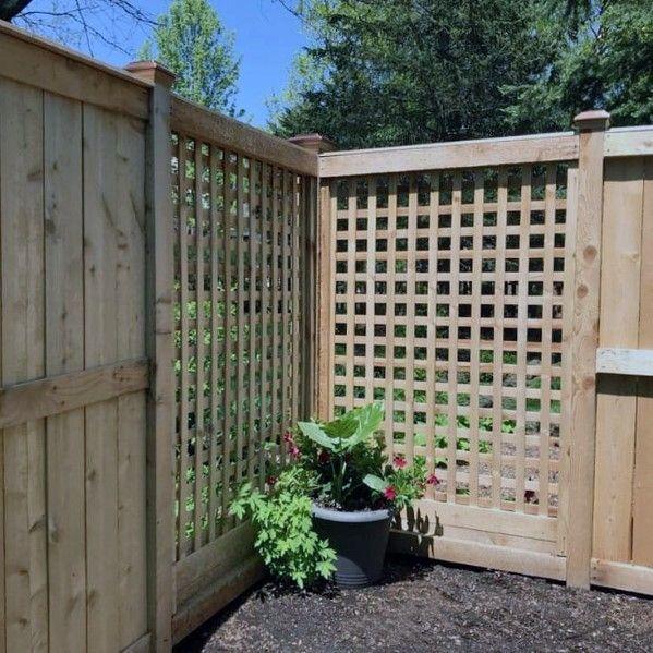 Top 70 Best Wooden Fence Ideas Exterior Backyard Designs Diy Garden Fence Fence Design Backyard Design