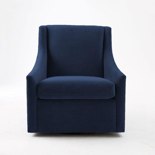 Best 25  Swivel chair ideas on Pinterest   Tub chair  Club   Sweep Arm Swivel Chair   Performance Velvet   Dove Gray   West Elm. Large Swivel Chairs Living Room. Home Design Ideas