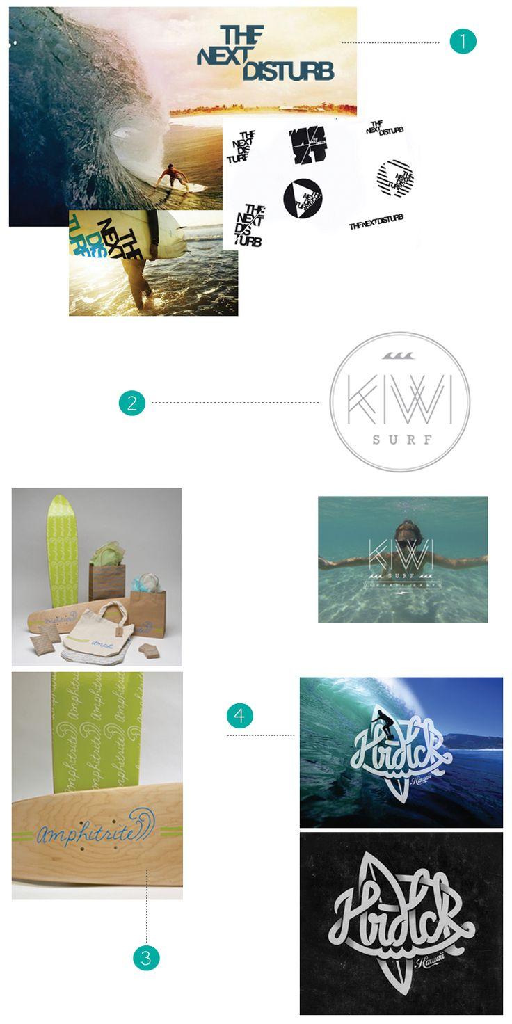 too good design // SURF logos // cool surf branding // hand lettering  >> radworkss.com
