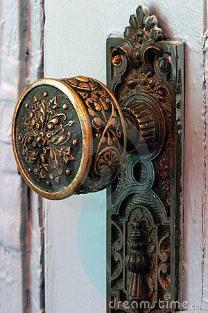 Antique brass door knob for the master bedroom
