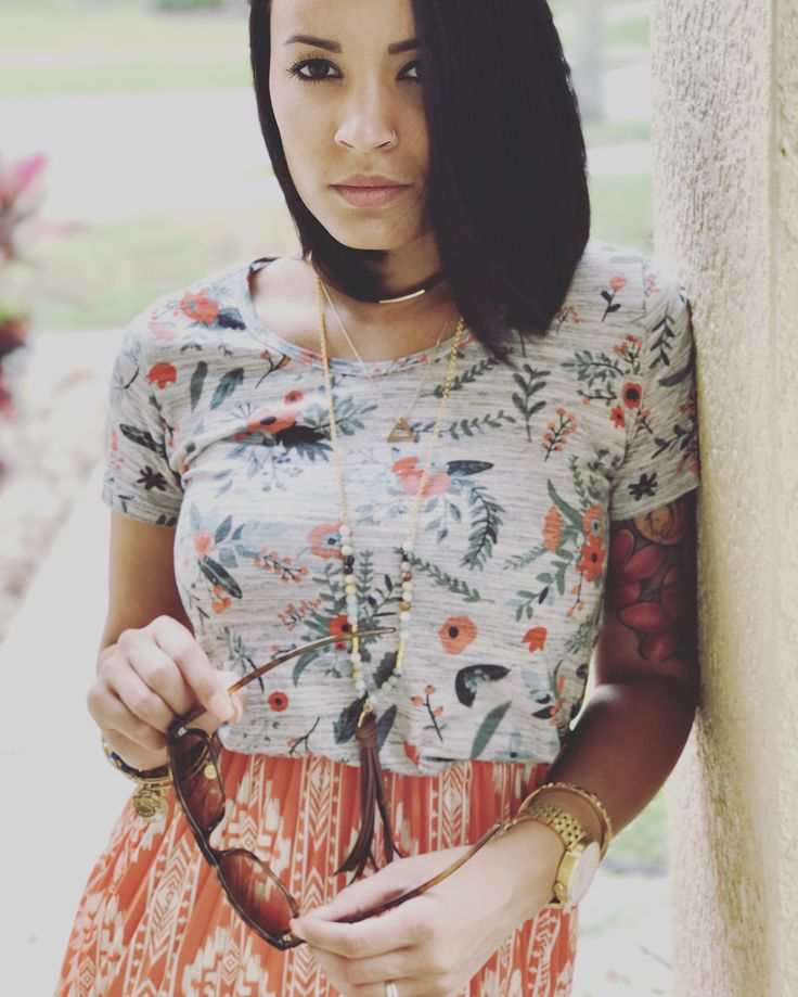 Lularoe Classic tee and lularoe Jill  Pattern mixing at its finest! obsessed with this outfit