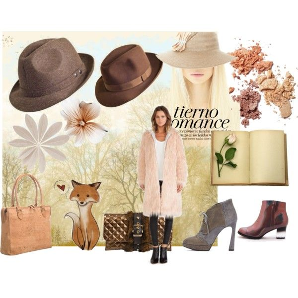 """Romantic brown and pink"" by amandamarzolini on Polyvore  #brown #romantic #pink #pastel #ecofur #coat #fallstyle #fall2014 #fallfashion #Fall #falltrend #falloutfit #fallentertaining #fashion #polyvore #polyvoreeditorial #polyvoreOOTD #polyvorecommunity #fashionista #fashionset #shoes #Heels #ankleboots #hat #hattrend #cork #flowers #inspiration #cool #elegant #chic #girl #girly #fox"