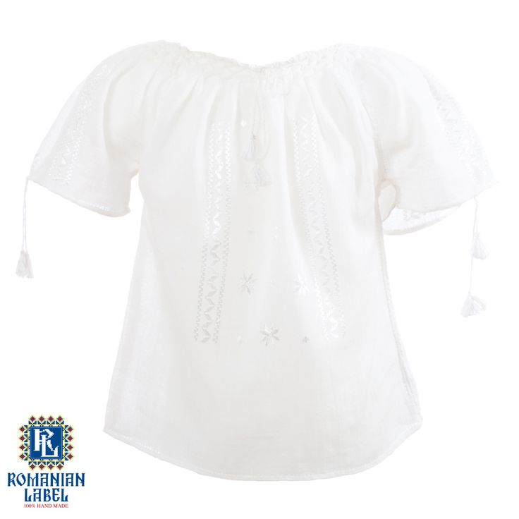 $45 The white traditional blouse shares the same innocent and pure values as a young child