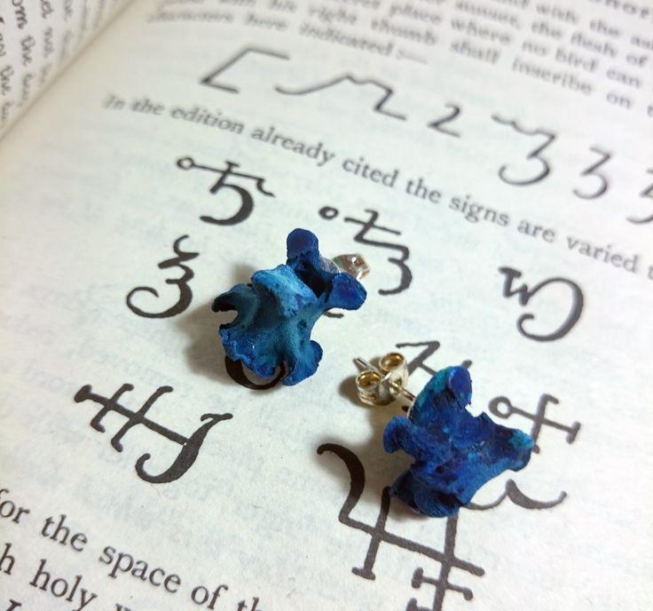 Real bone ear studs earrings . more jewelry on www.etsy.com/uk/shop/chrisrichfordart