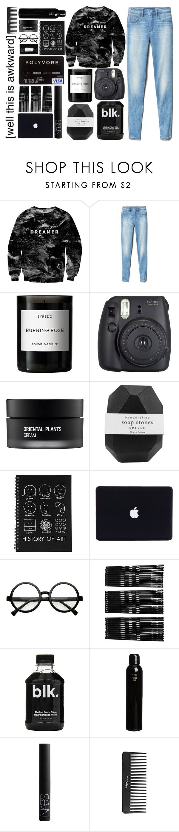 """""""Dreamer"""" by imnotyourstyle ❤ liked on Polyvore featuring Mr. Gugu & Miss Go, Gap, Byredo, Fuji, Koh Gen Do, Pelle, Retrò, Monki, Oribe and NARS Cosmetics"""
