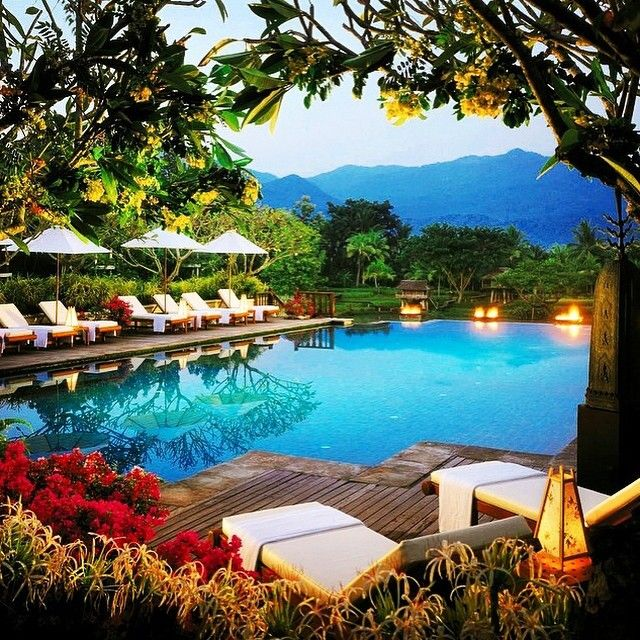 Four Seasons Chiang Mai--one of the most luxurious hotels in Thailand. Photo courtesy of callawayrose on Instagram.