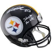 """Heath Miller Pittsburgh Steelers Fanatics Authentic Autographed Riddell Replica Helmet with """"Steeler 4 Life"""" Inscription"""