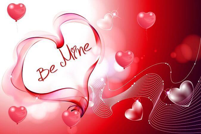 valentines day status message