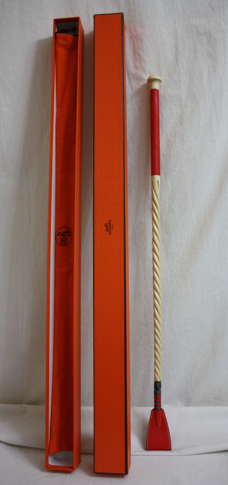 Hermes Horse Whip Red Leather Hermes Engraved Handle with Box and Bag | eBay