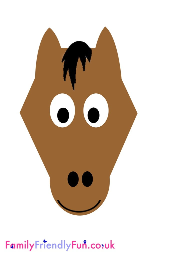 Horse Mask Template Related Keywords & Suggestions - Horse Mask ...