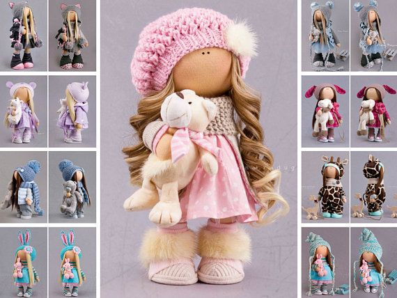 Poupée Babmole russe Bonita Tilda doll Interior doll Textile doll Pink doll Soft doll Fabric doll Cloth doll Nursery doll Puppen by Alena R