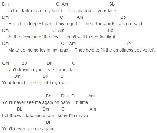 Adele - Youu0026#39;ll Never See Me Again Chords : Adele : Pinterest : Adele and Never