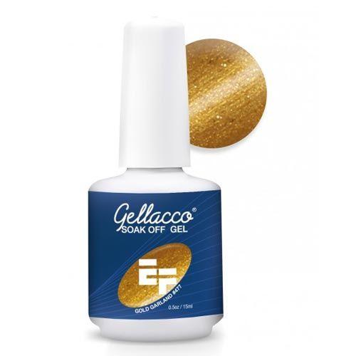 Pintauñas Esmalte Permanente Oro 15ml, pintauñas esmalte permanente oro gold garland.  Únete al CLUB, síguenos! #colordeuñas #nails #uñasvistosas