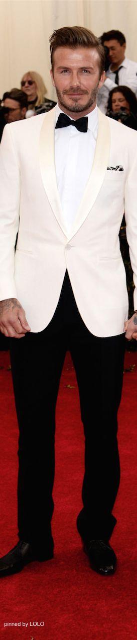 David Beckham 2014 Met Gala Red Carpet