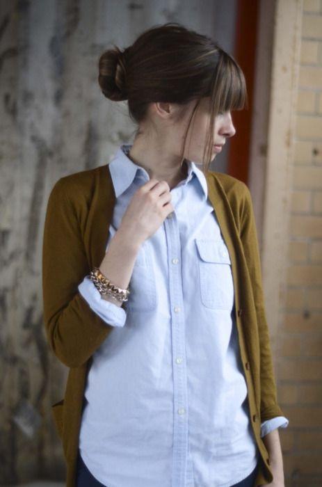 Cardigan: J.Crew outlet Shirt: Ralph Lauren thrifted Jeans: Madewell High Riser…