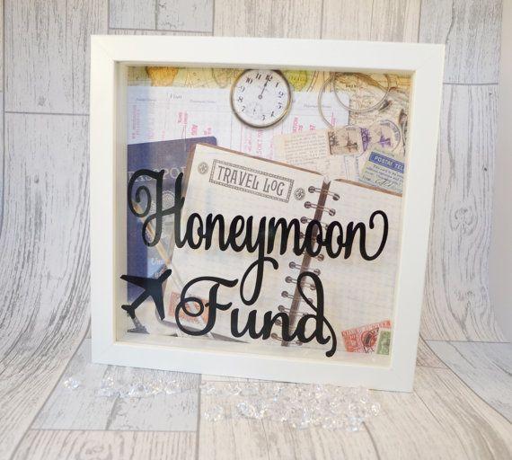 Standard Monetary Wedding Gift: Honeymoon Fund Box, Engagement Present, Honeymoon Money