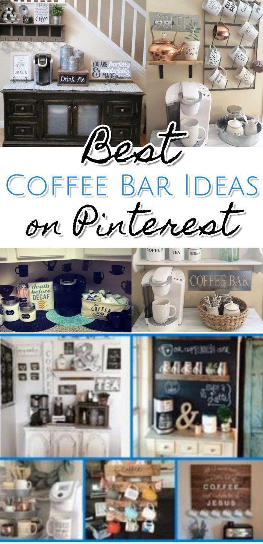 Best Coffee Bar Ideas On Pinterest This Diy Coffee Bar Board Has