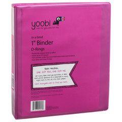 Pink binder from Yoobi