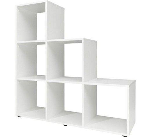 Ihr Raumteiler von CS SCHMAL bietet viele Einsatzmöglichkeiten. Das ca. 105 cm breite Regal in Weiß verfügt über insgesamt 6 offene Fächer. Hier können Sie Bücher und Dekorationen frei anordnen oder kombinieren das Regal mit Körben und Boxen. Außerdem kann der Raumteiler Zimmer strukturieren, indem er offene Flächen in Teilbereiche gliedert. Nutzen Sie den Raumteiler beispielsweise im Kinderzimmer und trennen Sie den Schreibtisch von der Spielfläche. Die opt
